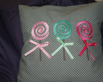 Lollipop Pillow Cover. Baby Girl Pilow. Room Decor.