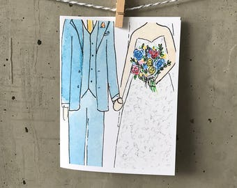Wedding card // Mr and Mrs//congratulations cards // newly wed card