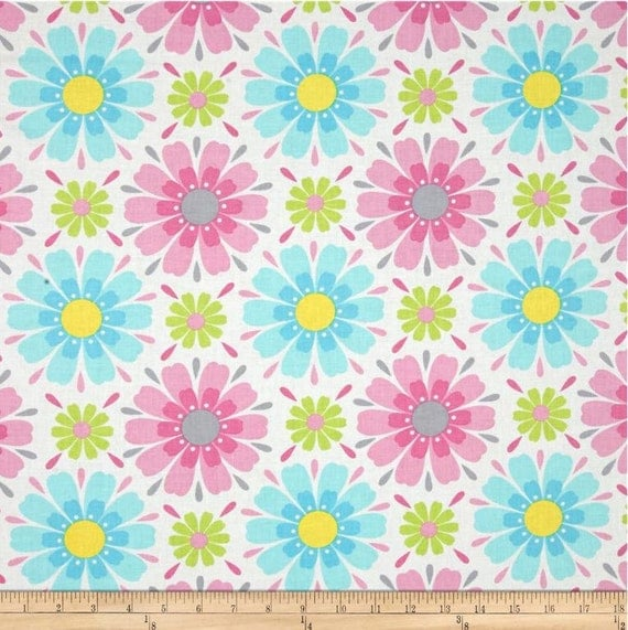 Items similar to floral fabric by the yard quilting for Floral nursery fabric