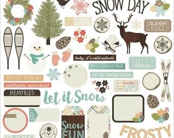 Simple Stories Winter Wonderland Bits and Pieces Ephemera Die-Cuts