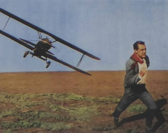 North by Northwest - Cary Grant - Movie Poster - Framed Picture 11 x 14