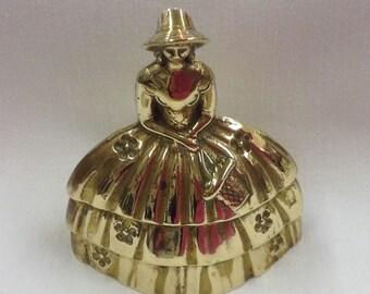 Vintage Brass Crinoline Lady