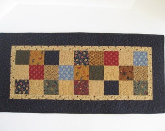 Quilted Table Runner, Patchwork Quilted Table Runner