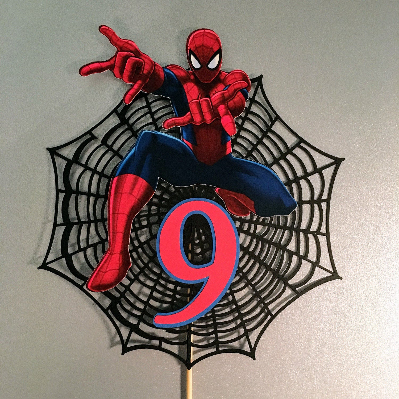 Spiderman Edible Cake Topper Australia