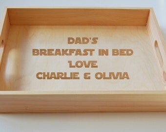 Personalised Wooden Tray, Mums Breakfast Tray, Dads Breakfast Tray, Tea Tray, Mothers Day Tray, Gardening Tray, Engraved Family Tray