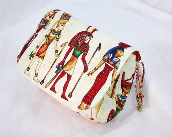 Egyptian Bag, Egyptian Fabric, Fabric pouch, Camera Bag, Jewellery Bag, Medication Bag, Cosmetics Bag, Jewelry Bag, Archaeology Gifts