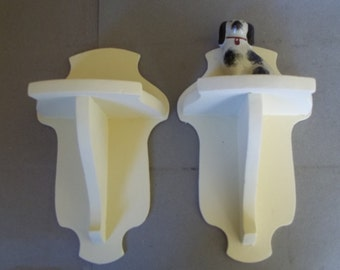 Vintage Handmade Wood Sconces - Pair of Wood Sconces - Wood Wall Shelves - Handcrafted Open Shelves - Open Shelving