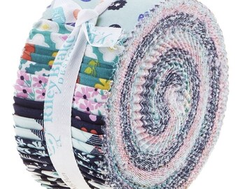 """Riley Blake Enchanted by Dodi Lee Poulsen Rolie Polie 2.5"""" Fabric Quilting Strips Jelly Roll 40 count RP-5680-40"""