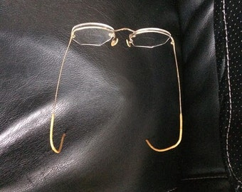Antique Wire Frame Spectacle Glasses Theatre Prop
