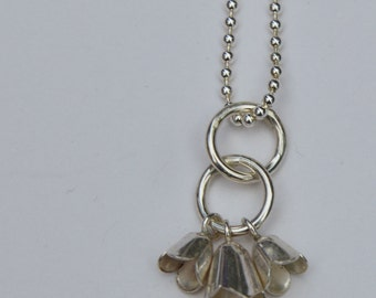 Sterling silver tulip pendant