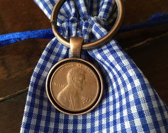 1977 Penny Keychain #40 - Antique Copper