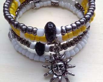 ENDURANCE - Coil Memory Wire Wrap Bracelet, Affirmation Jewelry, Cause Jewelry, Benefits Homeless Mothers of Atlanta