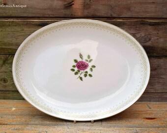 Vintage 1950s Royal Doulton Made in England Bone China 'Sweetheart Rose' H4936 Copyright Doulton&Co Limited Rose Design Serving Platter