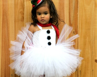 Snowman tutu/ snowman costume/ frosty costume/ santa costume/ holiday costume/ christmas pageant/ pageant/ frosty tutu/ christmas tutu