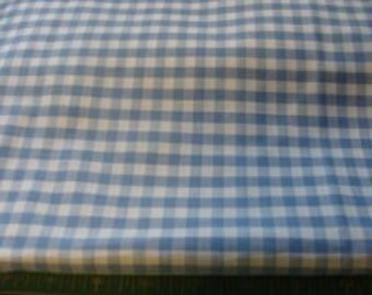 Blue and white Checker Cotton Fabric