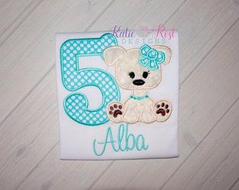 Girls Personalized Puppy Birthday shirt, Puppy Theme Birthday Party, Puppy Birthday Shirt
