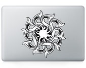 Macbook 13 inch decal sticker wheel kaleidoscope and apple art for Apple Laptop