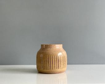 Mid Century Studio Pottery Vase - signed