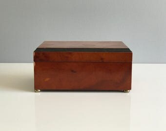 Wooden Hinged Box / Box with Lid / Wooden Box / Wooden Jewelry Box / Wood Jewelry Box