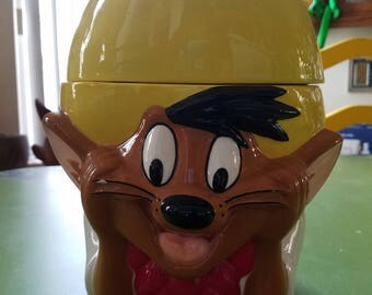 Vintage Speedy Gonzales Cookie Jar from Warner Bros., Cartoons Circa 1996