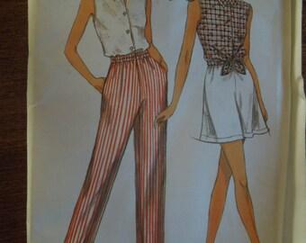 Simplicity 8382, sizes 6-16, shorts, pants, shirt, UNCUT sewing pattern, craft supplies