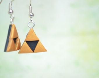 The Legend of Zelda Inspired Triforce Earrings