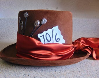 Brown Mad Hatter Costume Top Hat