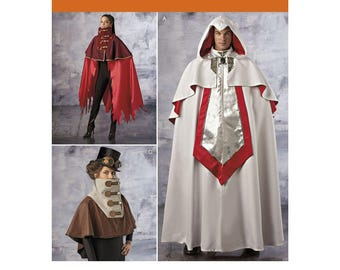 1040, Simplicity, Adult Costume, Comic Cape, Cape with Hood, Tabard, Hooded Cape, Fantasy, Steampunk, Halloween Cape, Knights Cape