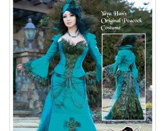 7218 McCall's Yaya Han Design Original Peacock Costume Jacket, Corset, Skirt, Steampunk, Gothic, Peacock Gown, Cosplay, Halloween, Dress UP