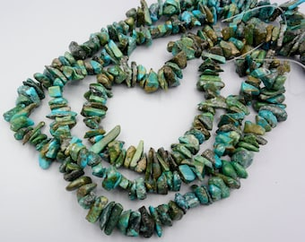 Natural Turquoise Beads  - Turquoise Nugget Beads - real Turquoise Nuggets - Gemstone Beads - 16 inch