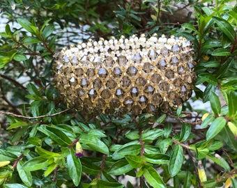 Bicone crystals and preciosa Beads Bracelet