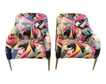 B & B Italia Modernist Designer Club Chairs - A Pair