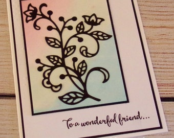 """Stampin' Up! Handmade Any Occasion Card - """"To a Wonderful Friend"""""""