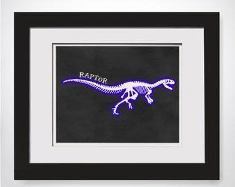 Raptor Dinosaur Wall Art Dinosaur Party Decor Printable Dinosaur Decorations Dinosaur Kids Decor Dinosaur Art Poster Dino Printable
