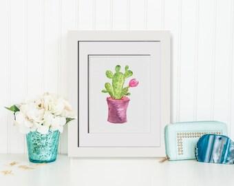 Cactus Wall Art cactus art | etsy