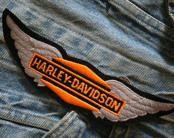 Winged Harley Davidson Patch