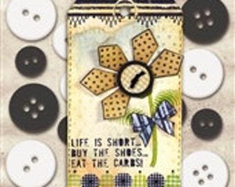 Button Scrapbooking Embellishments- Wendy Vecchi Mat Mini