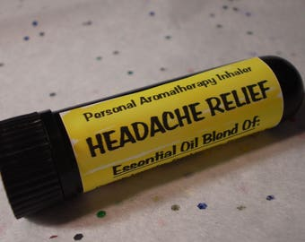 Headache Relief Personal Aromatherapy Nasal Inhaler - Natural Remedies - Essential Oil - Holistic