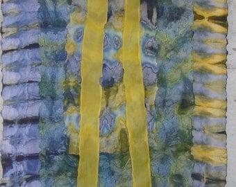 Greenburn Lake Shibori Silk Wallhanging