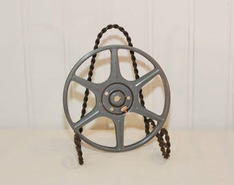 Vintage Sears Roebuck And Company Small 8mm Metal Film Reel (c. 1950's-1960's) 5 Inch Reel, Media Room Decor, Movie Prop, Repurpose