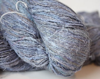 NEW***Handspun Recycled Mulberry Silk - Faded Denim
