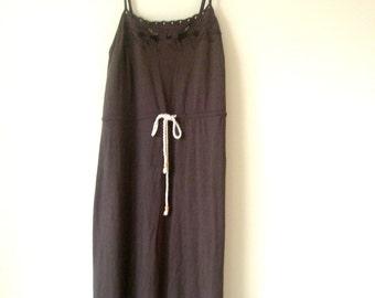 Black dress - brown dress -Summer Women  dress-Size S-M