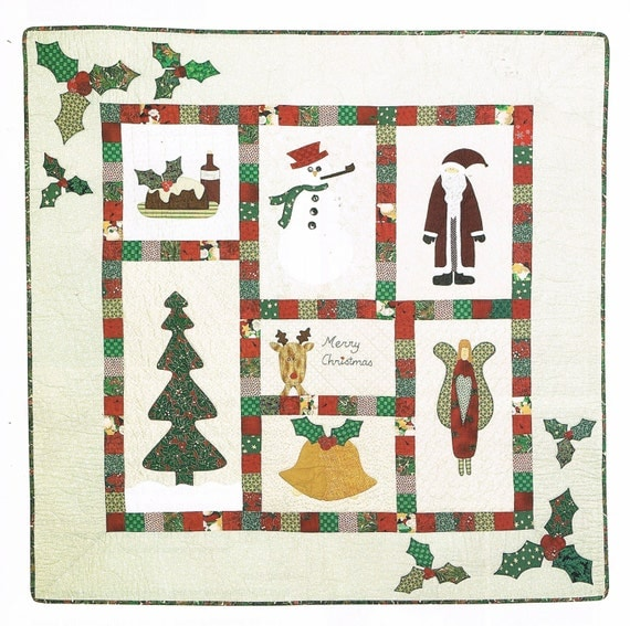 Quilt Pattern Christmas Sampler Wall Hanging Quilt
