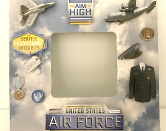 Air Force/United States Military Armed Forces / Memorial Picture Frame