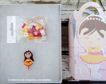 Set necklace making, gift for child, ballerina