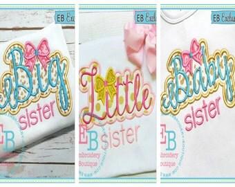 BIG/LITTLE/BABY Sister.....Onesie/Shirt