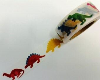 Dinosaur Dino Paper Washi Tape Scrapbooking Decoration Sticker - Birthday Planner - Stegosaurus - T-Rex - Brontosaurus