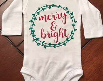 Merry and Bright onsie