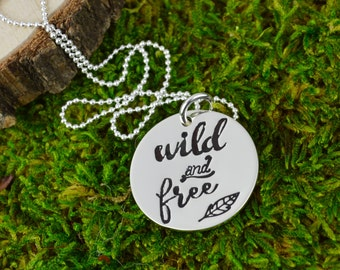 Wild and Free Necklace in Sterling Silver