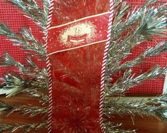 Vintage Mesh Christmas Stocking